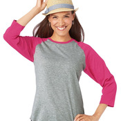 3530 Ladies' Jersey 3/4 Sleeve Baseball T-Shirt