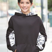 2464 Youth Digital Camo Performance Fleece Hooded Sweatshirt