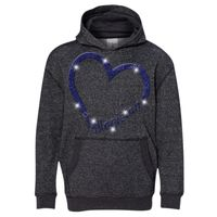 8606 Youth Glitter French Terry Hooded Pullover Thumbnail